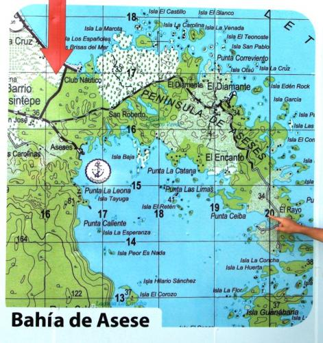 map of Asese peninsula