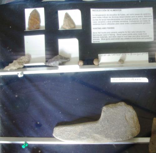 Lithic objects in museum display