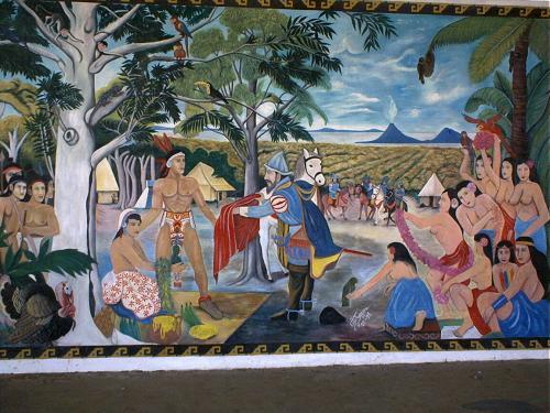 Ethnohistorical background dr geoffrey mccafferty for Mural nicaraguense